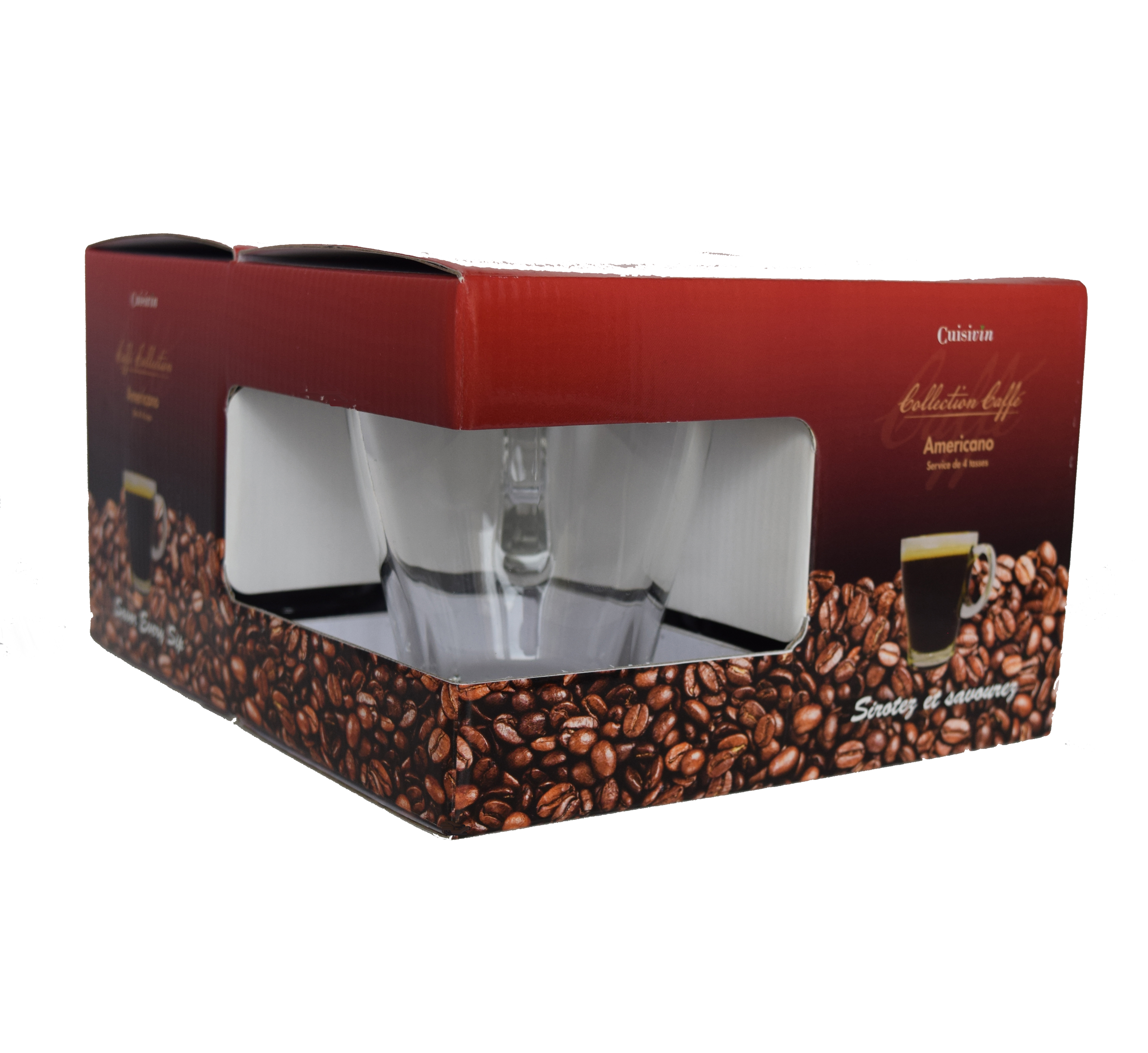 Caff 233 Americano Set Of 4 Cups Cuisivin Caffe Collection