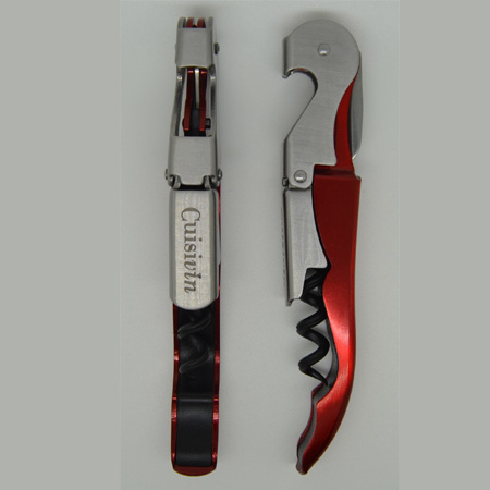 4021 cuisivin double lever corkscrew - red apple metallic red